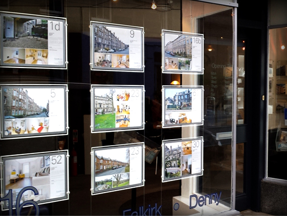 High Tech Illuminated Displays Scottish Property Group