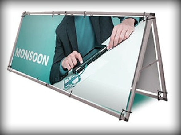 Banner Support Systems Freestanding Banner Frame