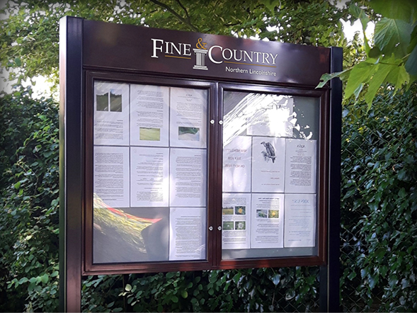 External Notice Boards Fine & Country National