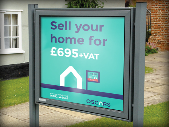 External Notice Boards Oscars Property Hull