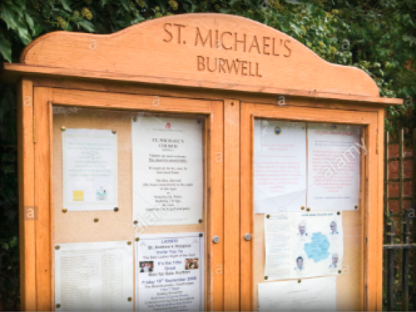 External Notice Boards St Michaels Church Yorkshire