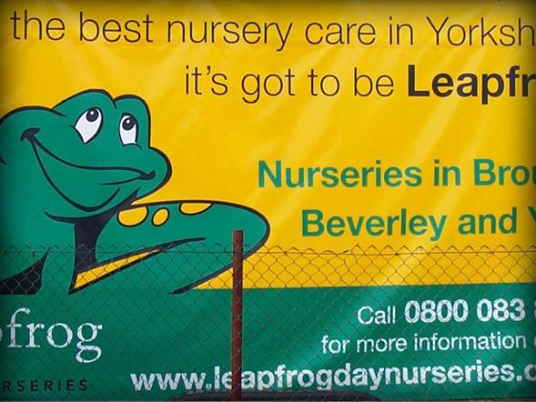 PVC & Mesh Banners Leapfrog Nursery