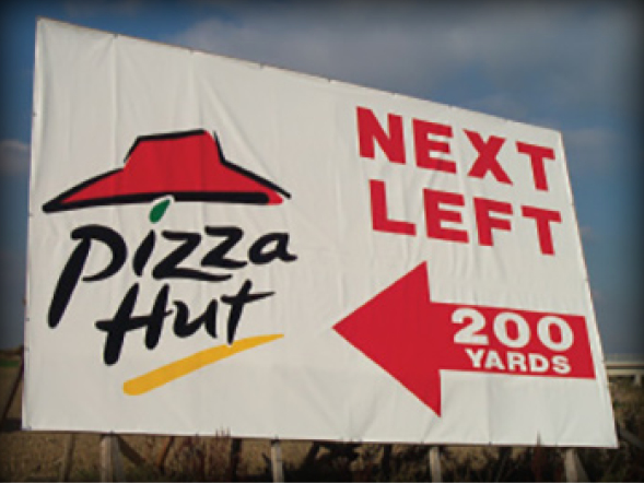 PVC & Mesh Banners Pizza Hut
