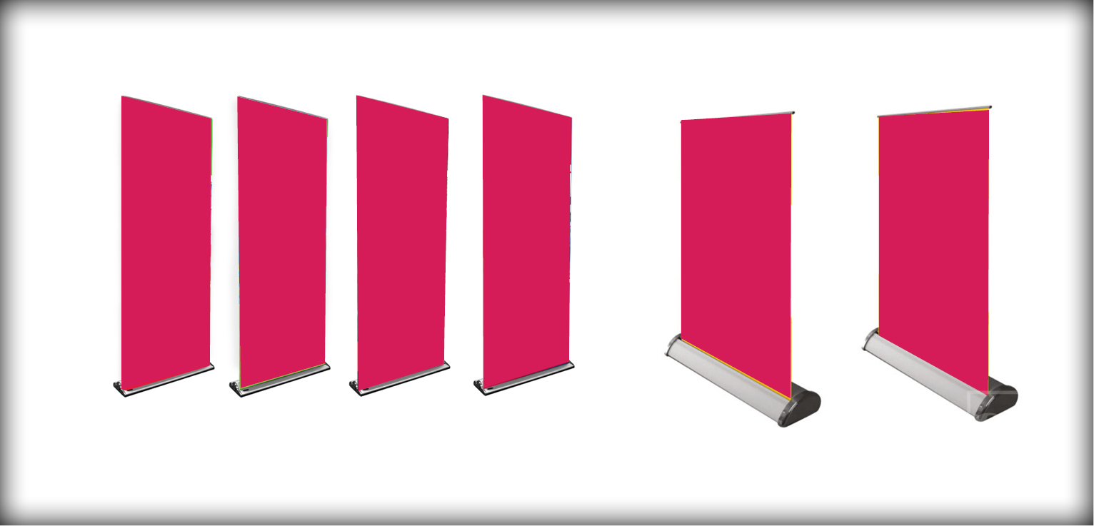 Roll up pull up banners