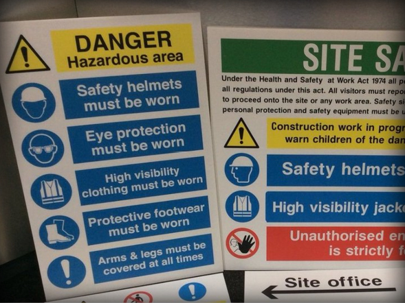 Safety Signs Streetscene Services Yorkshire