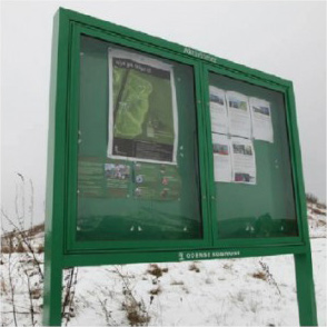 Lockable Post Mounted Noticeboards